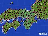 近畿地方のアメダス実況(日照時間)(2020年03月21日)