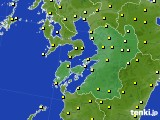 2020年03月21日の熊本県のアメダス(気温)