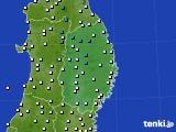 岩手県のアメダス実況(気温)(2020年03月21日)