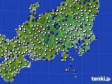 関東・甲信地方のアメダス実況(風向・風速)(2020年03月21日)