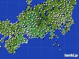 東海地方のアメダス実況(風向・風速)(2020年03月21日)