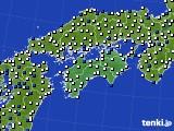 四国地方のアメダス実況(風向・風速)(2020年03月21日)