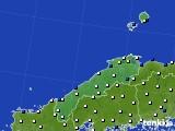 島根県のアメダス実況(風向・風速)(2020年03月21日)