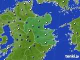 大分県のアメダス実況(風向・風速)(2020年03月21日)