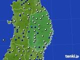 岩手県のアメダス実況(風向・風速)(2020年03月21日)