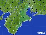 三重県のアメダス実況(日照時間)(2020年03月22日)