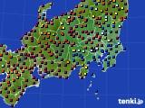 関東・甲信地方のアメダス実況(日照時間)(2020年03月23日)