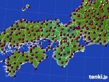 近畿地方のアメダス実況(日照時間)(2020年03月23日)