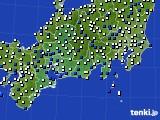 東海地方のアメダス実況(風向・風速)(2020年03月23日)