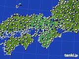 近畿地方のアメダス実況(風向・風速)(2020年03月23日)