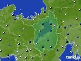 滋賀県のアメダス実況(風向・風速)(2020年03月23日)