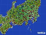 関東・甲信地方のアメダス実況(日照時間)(2020年03月24日)