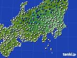 関東・甲信地方のアメダス実況(気温)(2020年03月24日)