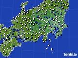 関東・甲信地方のアメダス実況(風向・風速)(2020年03月24日)
