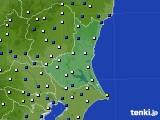 茨城県のアメダス実況(風向・風速)(2020年03月24日)