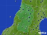 山形県のアメダス実況(風向・風速)(2020年03月24日)