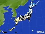 アメダス実況(気温)(2020年03月25日)