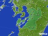 2020年03月25日の熊本県のアメダス(気温)