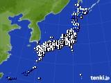 アメダス実況(風向・風速)(2020年03月25日)