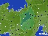 滋賀県のアメダス実況(風向・風速)(2020年03月25日)
