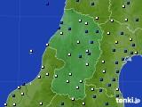 山形県のアメダス実況(風向・風速)(2020年03月25日)