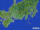 2020年03月29日の東海地方のアメダス(気温)