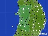 2020年03月29日の秋田県のアメダス(風向・風速)