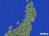 2020年03月30日の東北地方のアメダス(風向・風速)