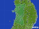 2020年03月30日の秋田県のアメダス(風向・風速)
