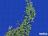 2020年04月02日の東北地方のアメダス(風向・風速)