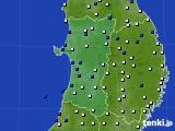 2020年04月03日の秋田県のアメダス(風向・風速)