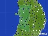2020年04月04日の秋田県のアメダス(風向・風速)