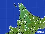 2020年04月05日の道北のアメダス(風向・風速)