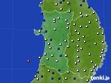 2020年04月05日の秋田県のアメダス(風向・風速)