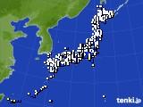 2020年04月09日のアメダス(風向・風速)