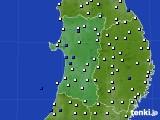 2020年04月09日の秋田県のアメダス(風向・風速)