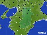 奈良県のアメダス実況(風向・風速)(2020年04月10日)