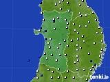 2020年04月11日の秋田県のアメダス(風向・風速)