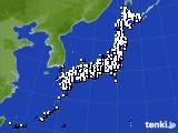 2020年04月12日のアメダス(風向・風速)