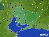 2020年04月14日の愛知県のアメダス(風向・風速)
