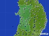 2020年04月15日の秋田県のアメダス(風向・風速)