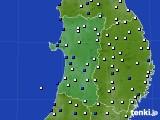 2020年04月16日の秋田県のアメダス(風向・風速)