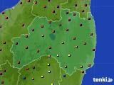 福島県のアメダス実況(日照時間)(2020年04月17日)