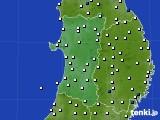 2020年04月17日の秋田県のアメダス(風向・風速)