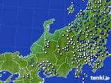 北陸地方のアメダス実況(降水量)(2020年04月18日)