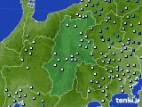 長野県のアメダス実況(降水量)(2020年04月18日)