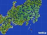 関東・甲信地方のアメダス実況(日照時間)(2020年04月18日)