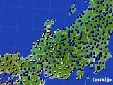 北陸地方のアメダス実況(日照時間)(2020年04月18日)