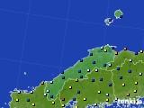 島根県のアメダス実況(日照時間)(2020年04月18日)