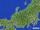 北陸地方のアメダス実況(気温)(2020年04月18日)